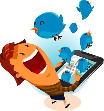 Girl on Twitter Bird